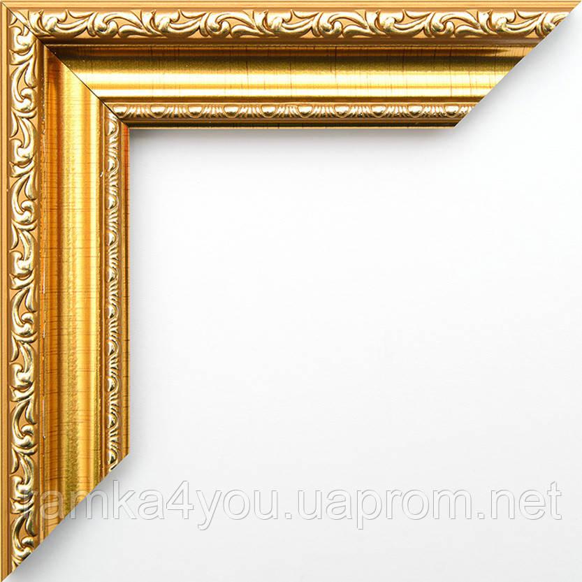 Рамка 40х50  3422-47MF золотая