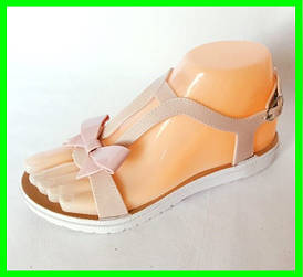 Жіночі Сандалі Босоніжки J. B. P. Літнє Взуття Бежеві ( 36р )