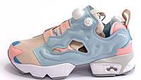 Женские кроссовки Reebok Insta Pump Fury OG Polar Pink Patina (рибок инста памп, голубые/розовые/белые)