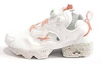 Женские кроссовки Reebok Insta Pump Fury Celebrate White (рибок инста памп, белые/розовые)
