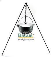 Казан чавунний туристичний 6л 26см з алюмінієвою кришкою, дужкою й триногою, посуд чавунна Біол (0706АК-3), фото 1