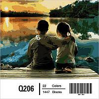 Картина по номерам На первом свидании 40Х50см Mariposa Q206