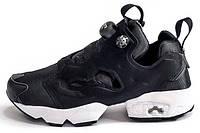 Женские кроссовки Reebok Insta Pump Fury Black White (рибок инста памп, черные/белые)