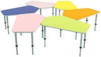 Комплект из 6детских столов «Пента», ростовых групп № 1, 2, 3 — 880x606x460-580 мм, фото 1