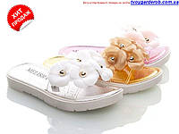 Яркие гелевые босоножки -шлепанцы для девочки р24-29 (код 1091-00)