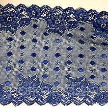 Стрейчевое кружево-1203,ширина 17см,цвет темно синий