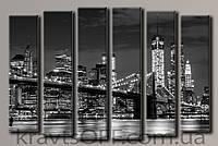"Модульная картина на холсте из 6-ти частей ""New York City"" ( 100х150 см )"