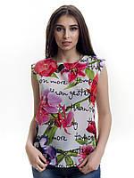 Женская блуза принт без рукава AA2026f, фото 1