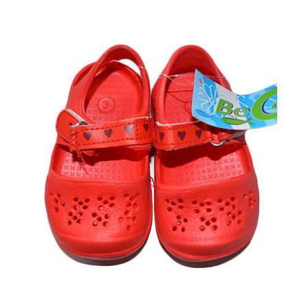 Тапочки детские пена 9006, красный, фото 2