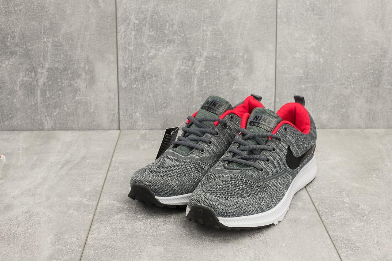 65ed4fadfedb5 Спортивные мужские кроссовки Nike из текстиля легкие удобные для спорта и  бега в сером цвете,