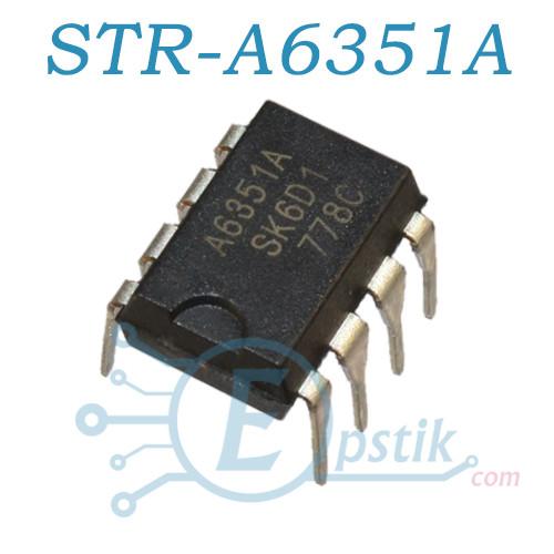 STR-A6351A, ШИМ контроллер, 650В, DIP8
