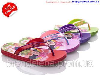 Вьетнамки-шлепки для девочки   р 24-26 (код 1092-00)