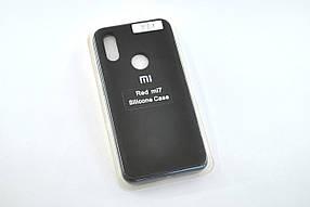 Чохол для телефону Xiaomi Redmi 7 Silicone Original Full №1 black
