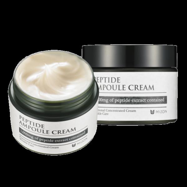Mizon Peptide Ampoule Cream Пептидный омолаживающий укрепляющий крем, 50мл