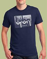 0008-TSRA-NY  Мужская футболка «URBAN GENERATION ». Тёмно-синяя