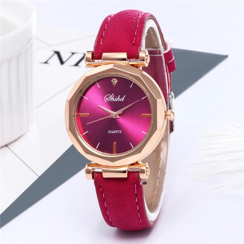 """Жіночі наручні годинники """"Shshd"""" (малиновий, яскраво-рожевий)"""
