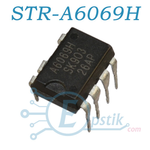STR-A6069H, ШИМ контроллер со встроенным ключом, 700В, 100кГц, 19Вт, DIP7