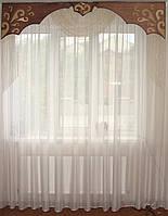 Жесткий Ламбрекен из нитей, 2м коричневый, фото 1