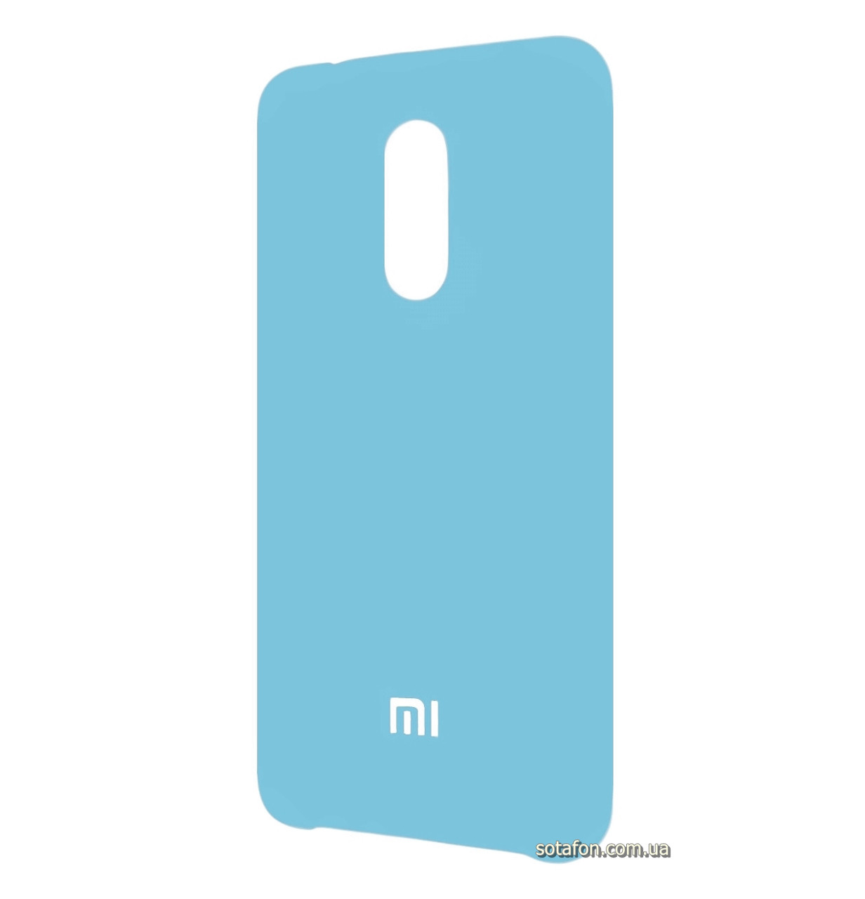 Чехол-накладка Original Silicone case на Xiaomi Redmi 5 Light Blue