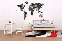 Деревянная буквенная карта мира WoodenDelightStudio