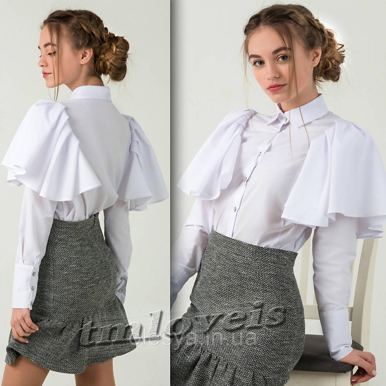Школьная подростковая Рубашка Доминика . Размеры 140- 170