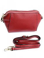 Клатч женский кожаный красный 5154 Red