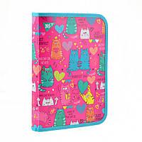 Папка для зошитів пласт. на блискавці В5 Lovely Cats 491574