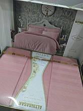 Постельное однотонное белье (100% сатин) Altinbasak , Турция розовое