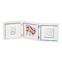 Baby Art - Тройная рамочка Белая с полосками и отпечатками, фото 1