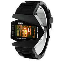 Часы Skmei 0817 LED, черные, в металлическом боксе