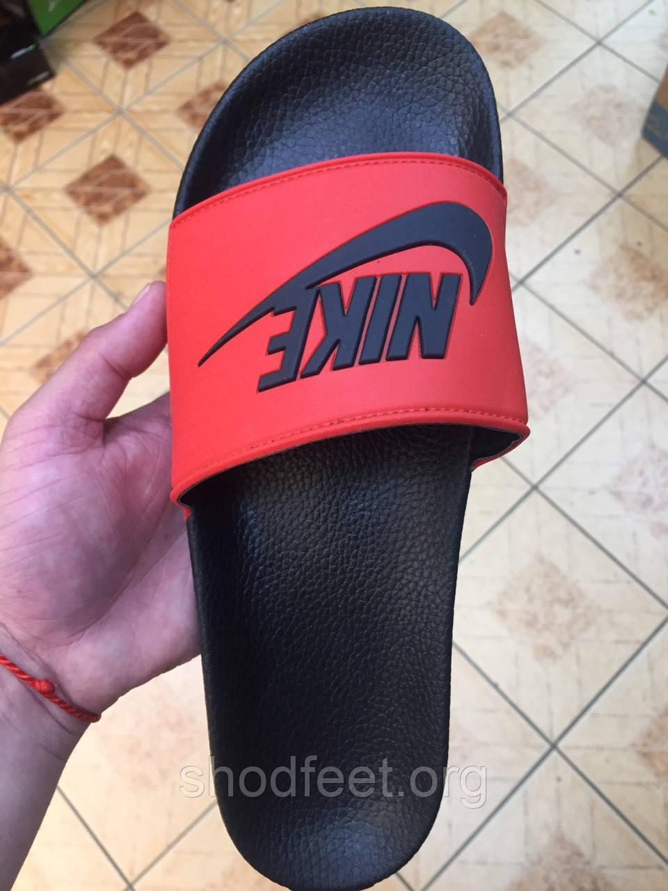 Мужские сланцы Nike Black Red