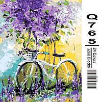 Картина по номерам Mariposa Велосипед в зарослях лаванды 40Х50 см (Q765)