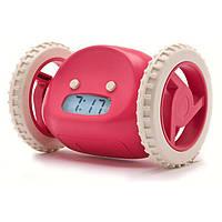 Убегающий будильник Snooze на колесиках Black Розовый