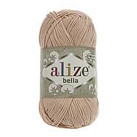Летняя пряжа Ализе Белла 417 нагой (ALIZE Bella) мягий хлопок 100%