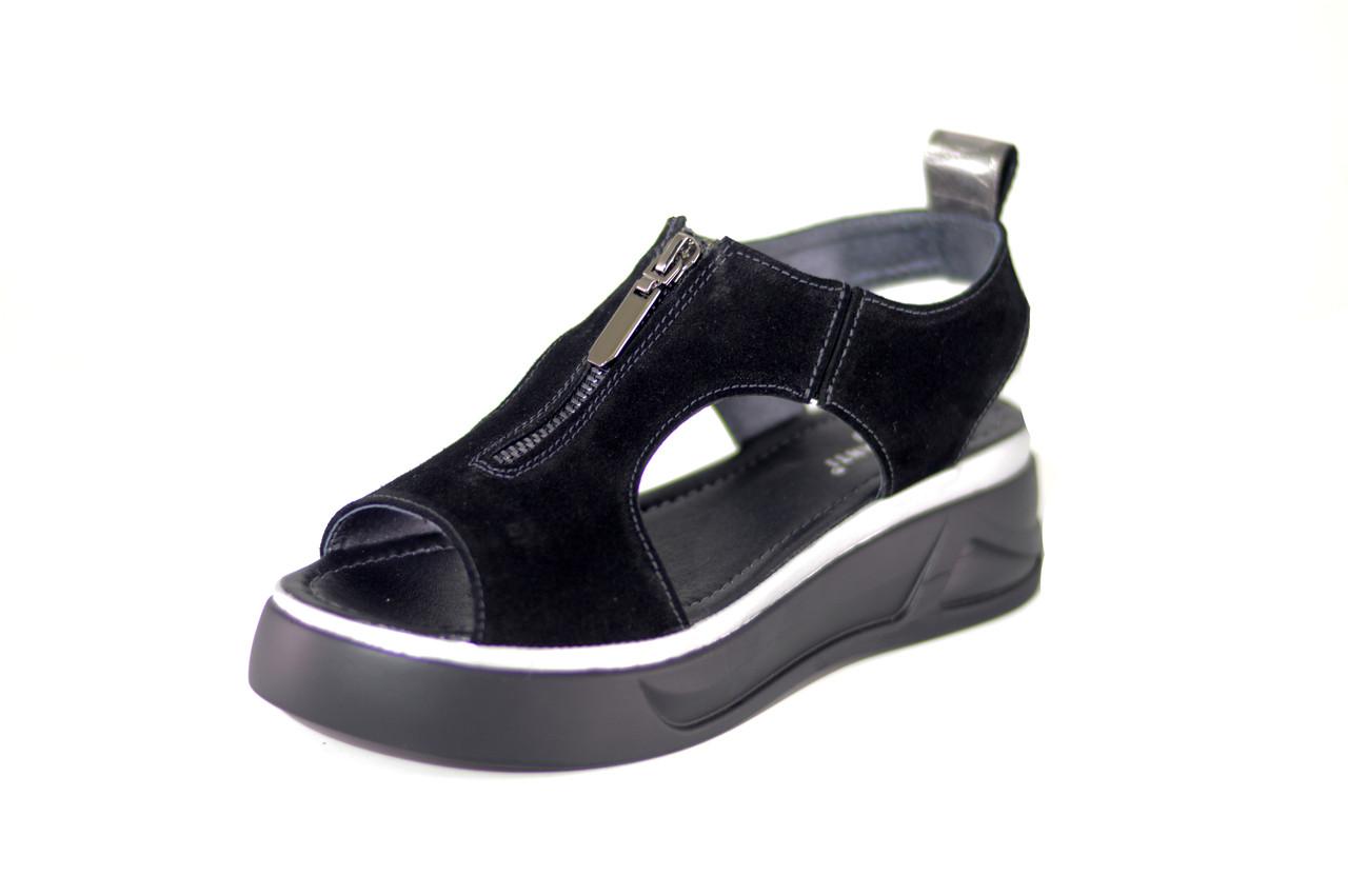 fd2058a81 Босоножки женские черные розница/опт натуральный велюр Passo Avanti (9120)