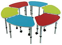 Комплект из 6 детских столов «Ромашка № 2», ростовых групп № 1, 2, 3 — 620x420х460-580 мм, фото 1