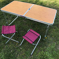 Стол раскладной для пикника и рыбалки  с 4 стульями (турестический), фото 1