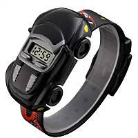 Часы детские Skmei Машинка 1241, черные, в металлическом боксе