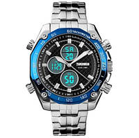 Мужские часы Skmei 1302 Chronograph blue (quartz) 3Bar, фото 1