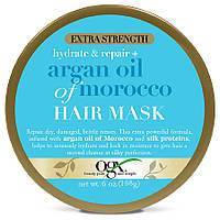 Восстанавливающая аргановая маска для волос OGX Argan Oil Of Morocco Hydrate & Repair Hair Mask, 168 мл