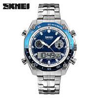Мужские часы Skmei 1204 Chronograph blue (quartz) 3Bar, фото 1