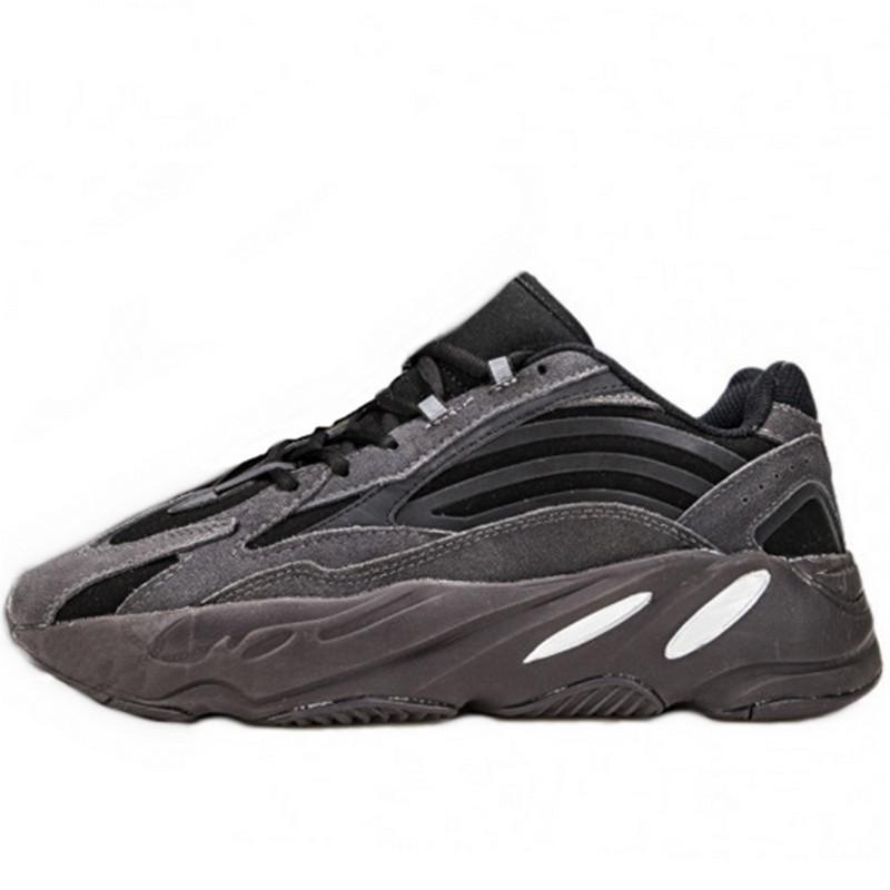 Кроссовки мужские Adidas Yeezy Boost 700 Wave Runner (чёрный - серый) Top replic