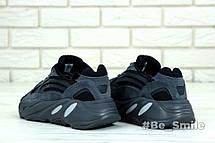 Кроссовки мужские Adidas Yeezy Boost 700 Wave Runner (чёрный - серый) Top replic, фото 3