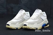 Кроссовки мужские Balenciaga Triple S 2.0  (белые) Top replic, фото 2