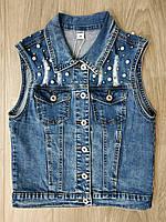 Женская джинсовая жилетка, размеры xs-xl. Артикул: YK7156
