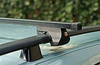 Багажник на дах автомобіля Amos Alfa стальний, на рейлінги / Автобагажник на рейлинги Амос Альфа, стальной