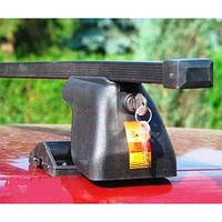 Автобагажник Amos Dromader D-1 стальний + кришки / Багажник Амос Дромадер Д-1 стальной с защитными крышками
