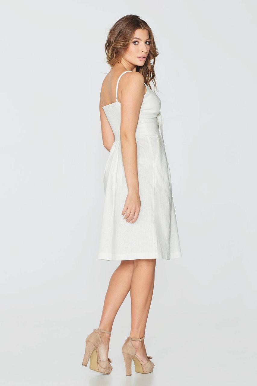 a306c595cfc3d2b ... Модный женский льняной сарафан с завязками на груди ТМ Nenka p.S,M,L,