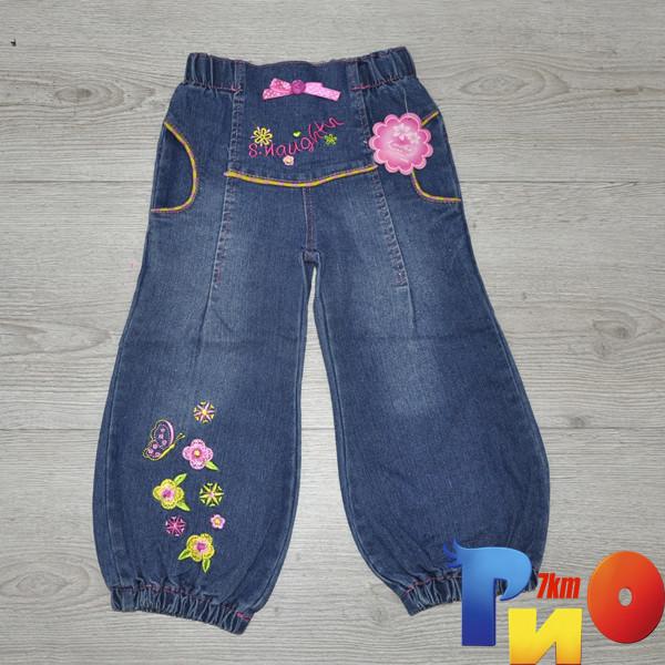 """Детские джинсы """"Лето"""" , для девочек (3-4-5-6-7 лет)( 5 ед в уп.)"""