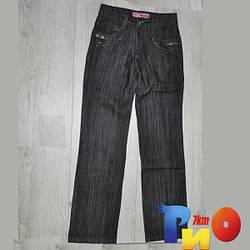 Детские джинсы, с стразами,  для девочек (10 лет)(1 ед в уп.)